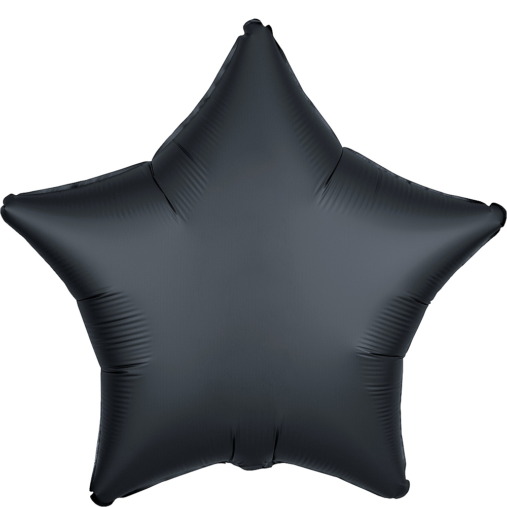 Black Satin Star Balloon Image #1