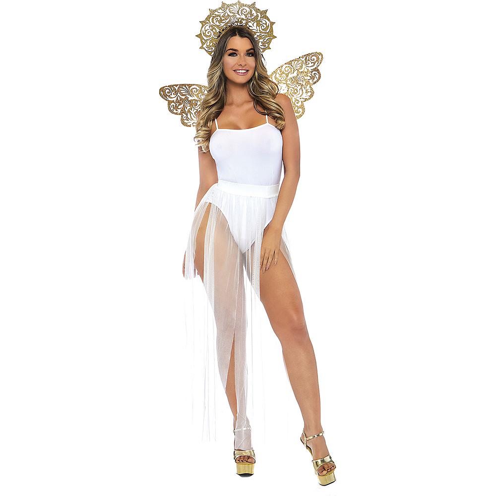 Glitter Golden Angel Costume Accessory Kit Image #1
