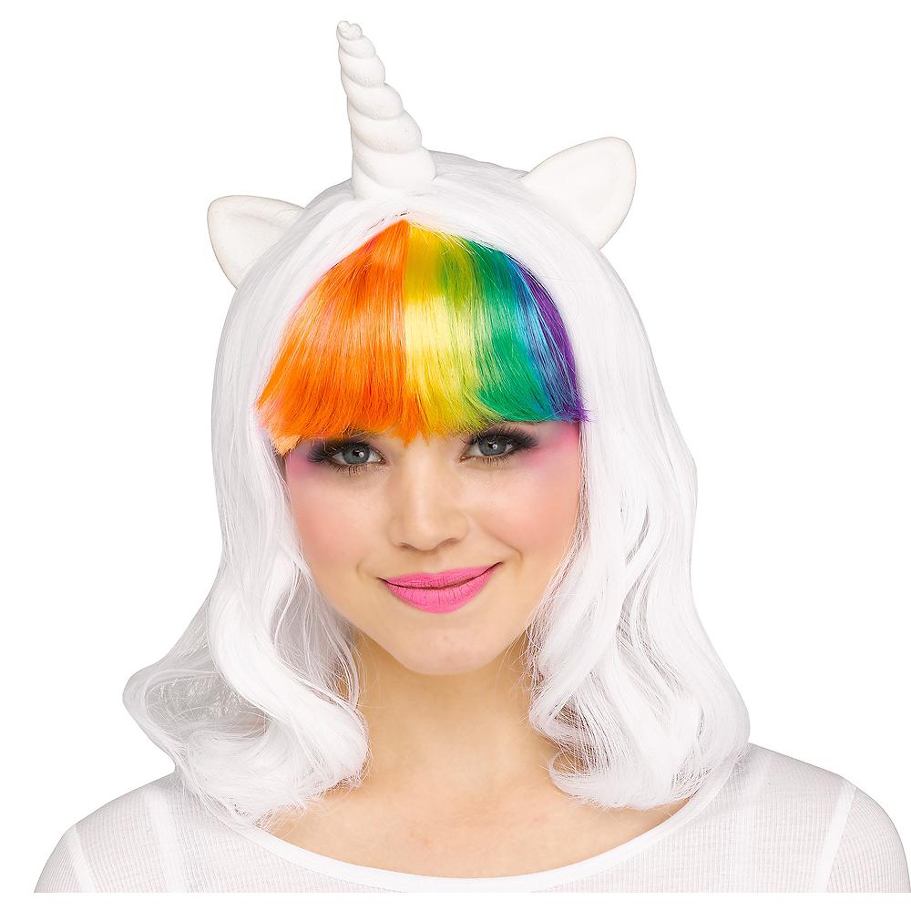 Rainbow Unicorn Wig with Horn and Ears Image #1