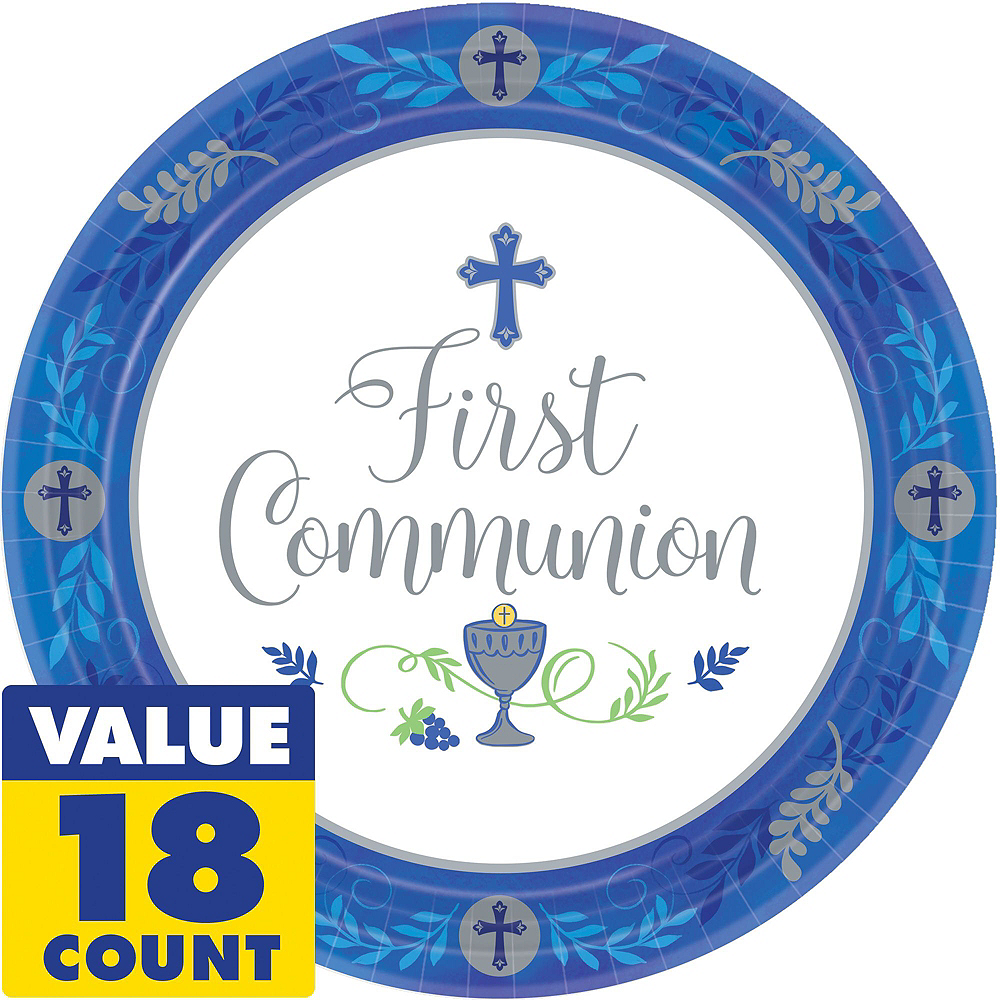 Boy's First Communion Tableware Kit for 18 Guests Image #3