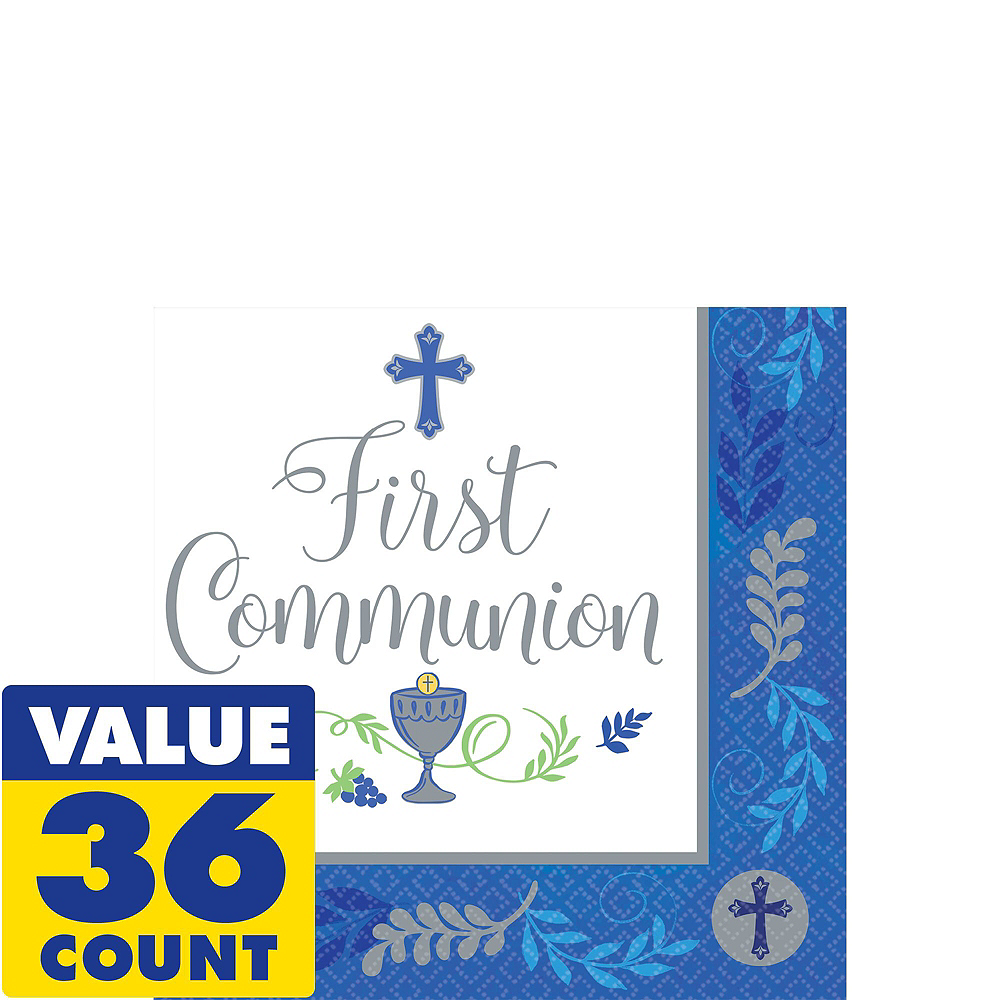 Boy's First Communion Tableware Kit for 18 Guests Image #4