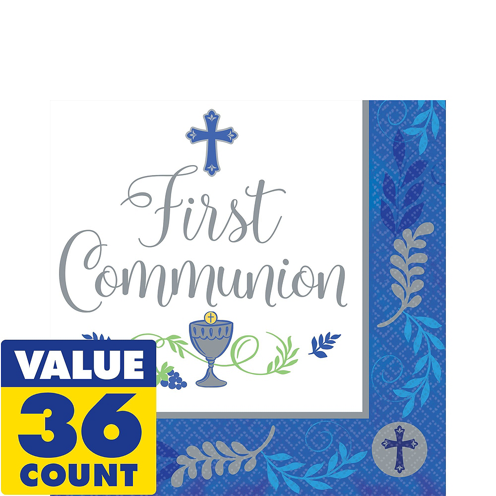 Boy's First Communion Tableware Kit for 18 Guests Image #5