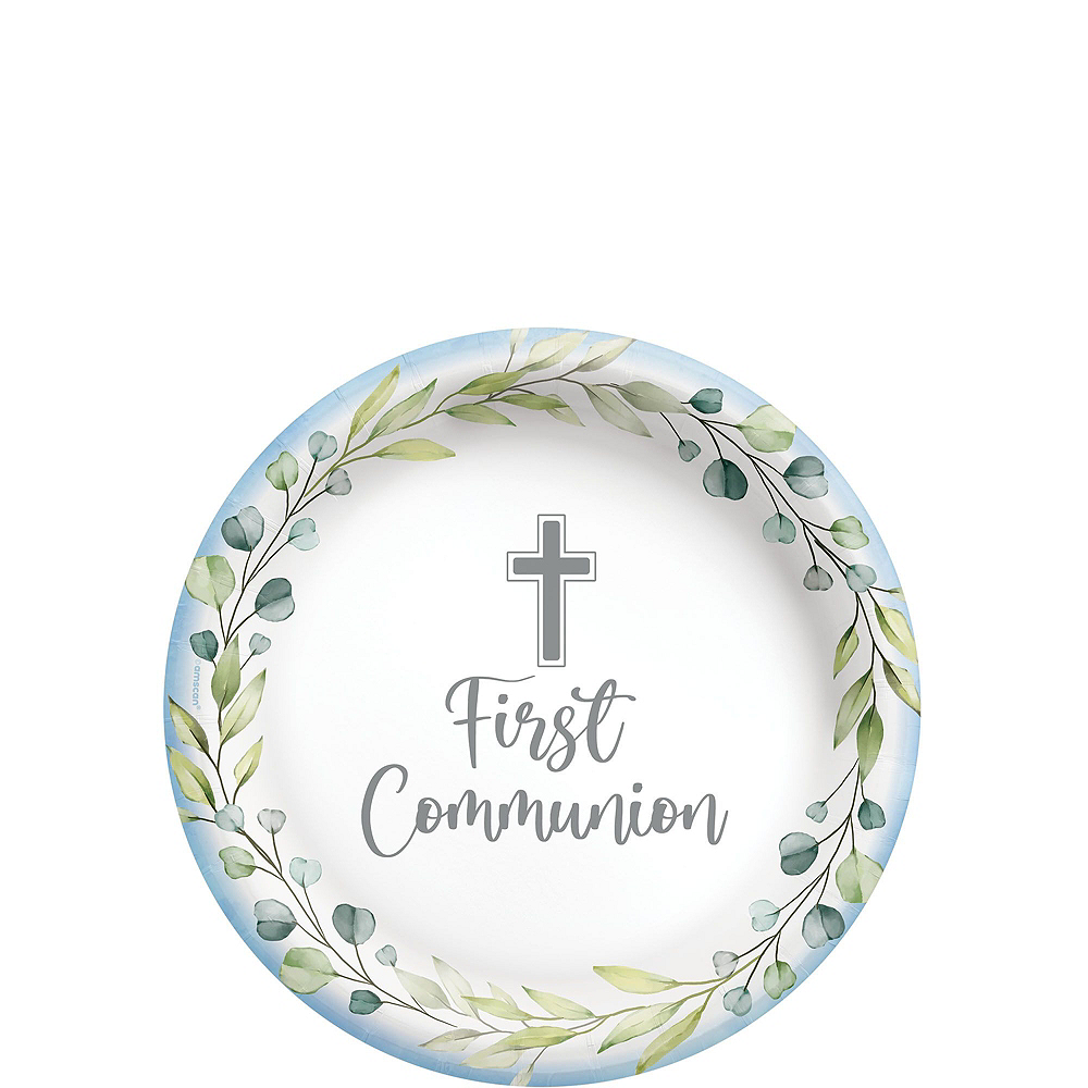Boy's First Communion Tableware Kit for 36 Guests Image #2