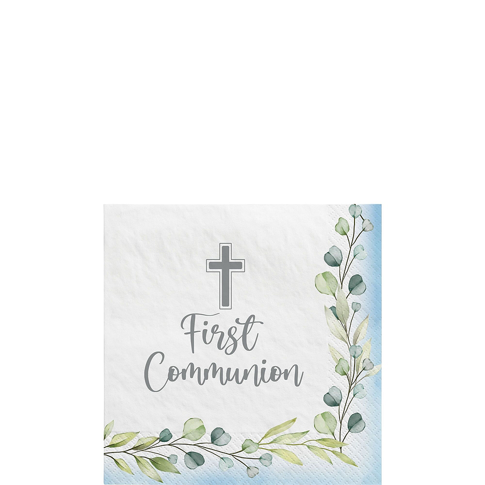 Boy's First Communion Tableware Kit for 36 Guests Image #4