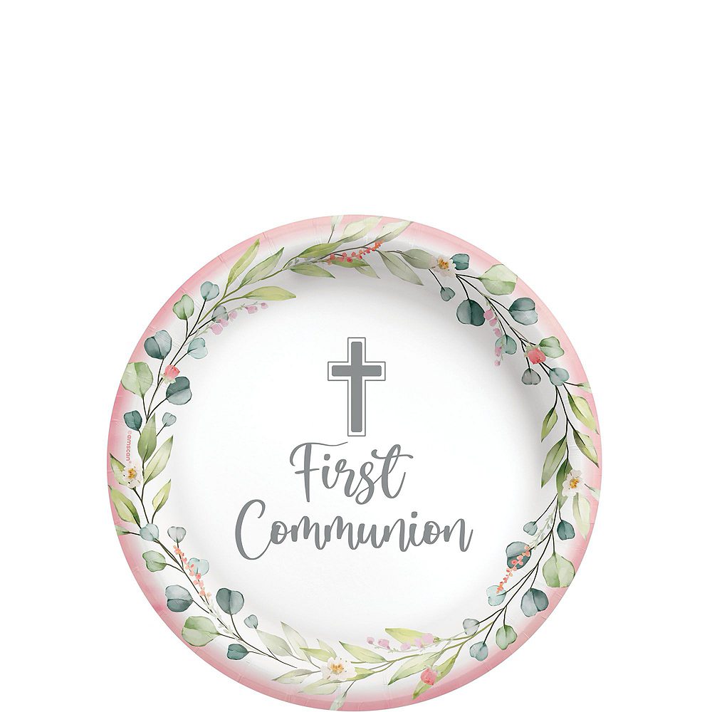 Girl's First Communion Tableware Kit for 36 Guests Image #2