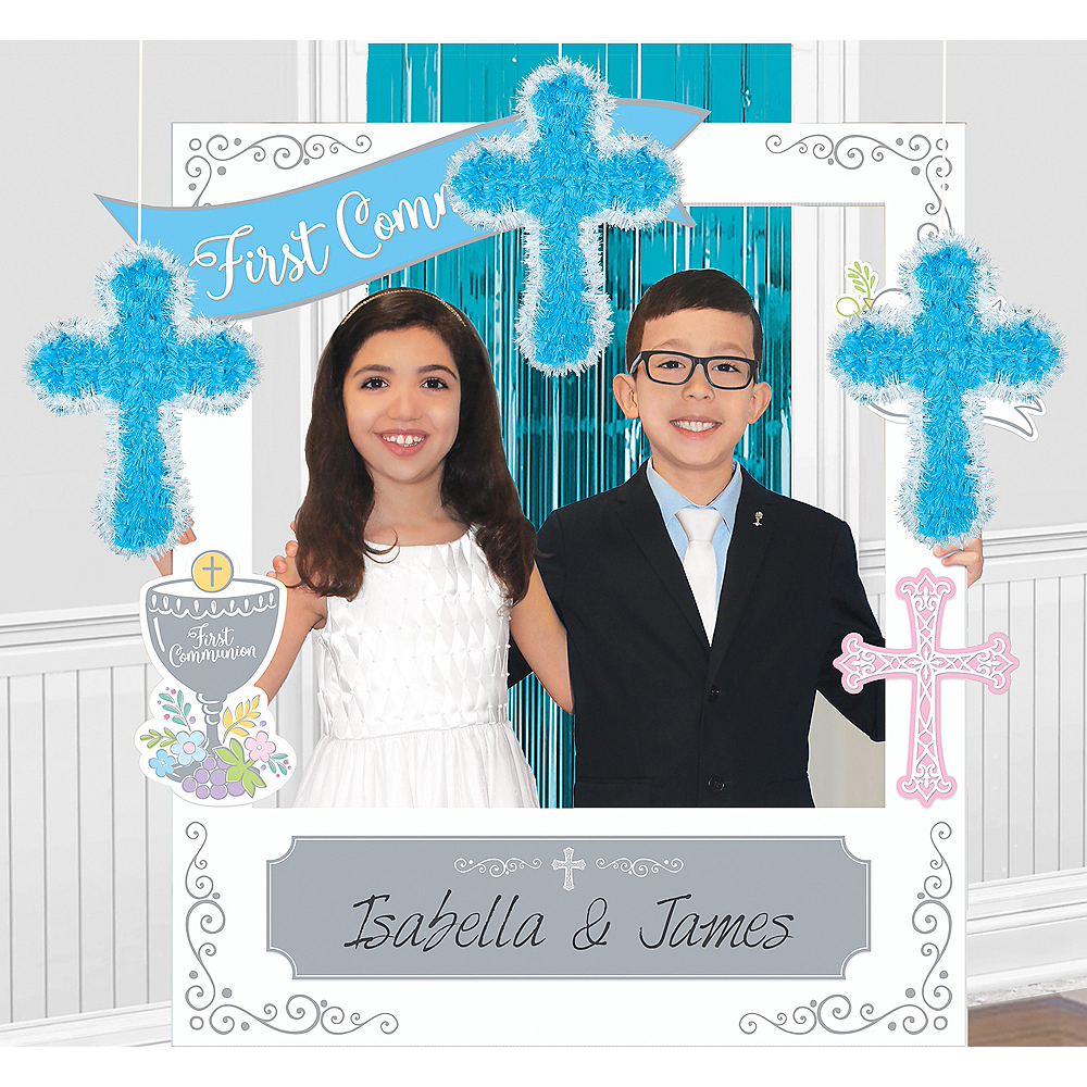 Boy S First Communion Photo Booth Kit Party City