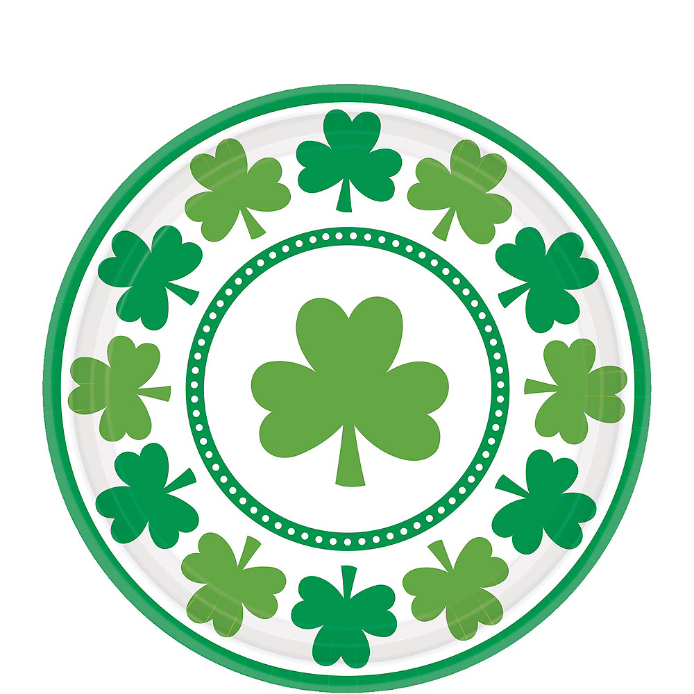 Lucky Shamrock Value Tableware Kit for 16 Guests Image #2