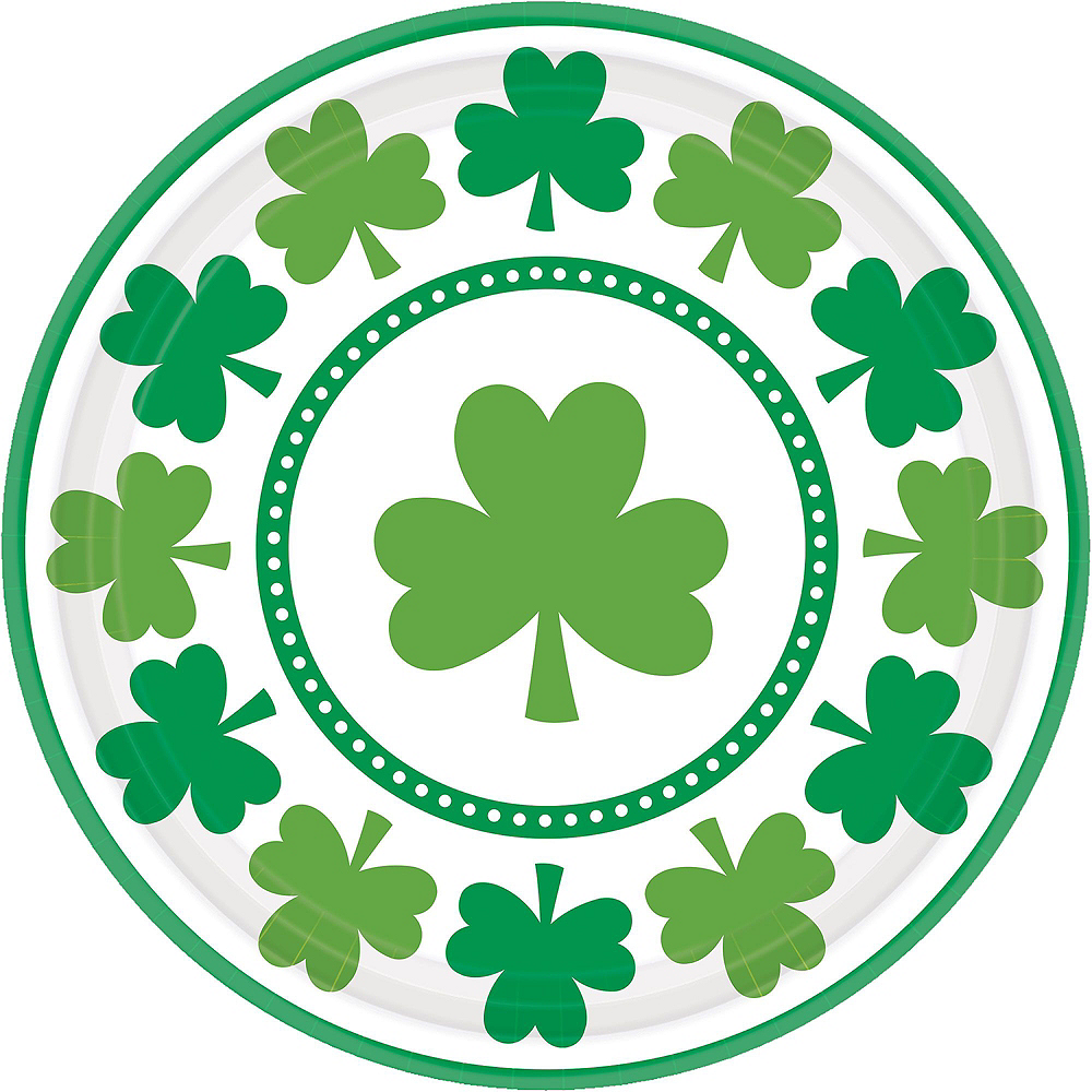Lucky Shamrock Value Tableware Kit for 16 Guests Image #3