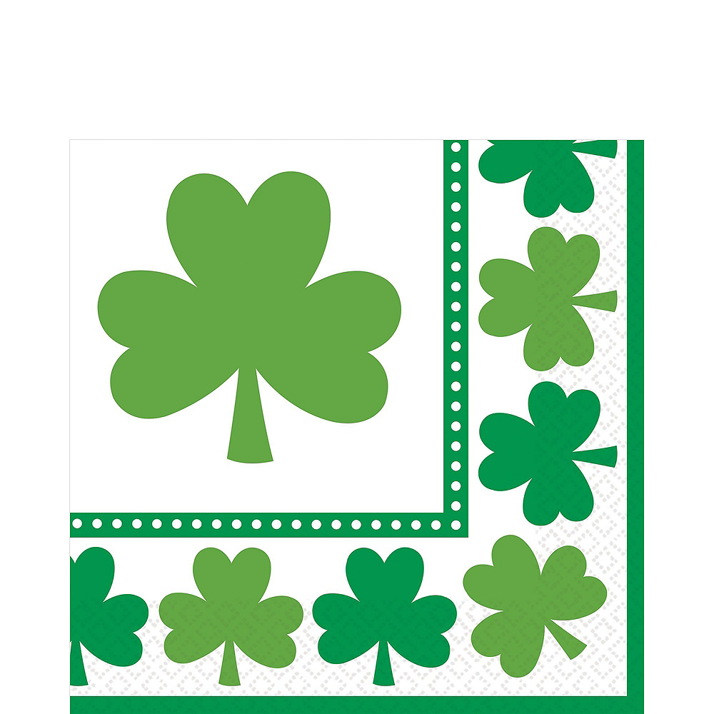 Lucky Shamrock Value Tableware Kit for 16 Guests Image #4