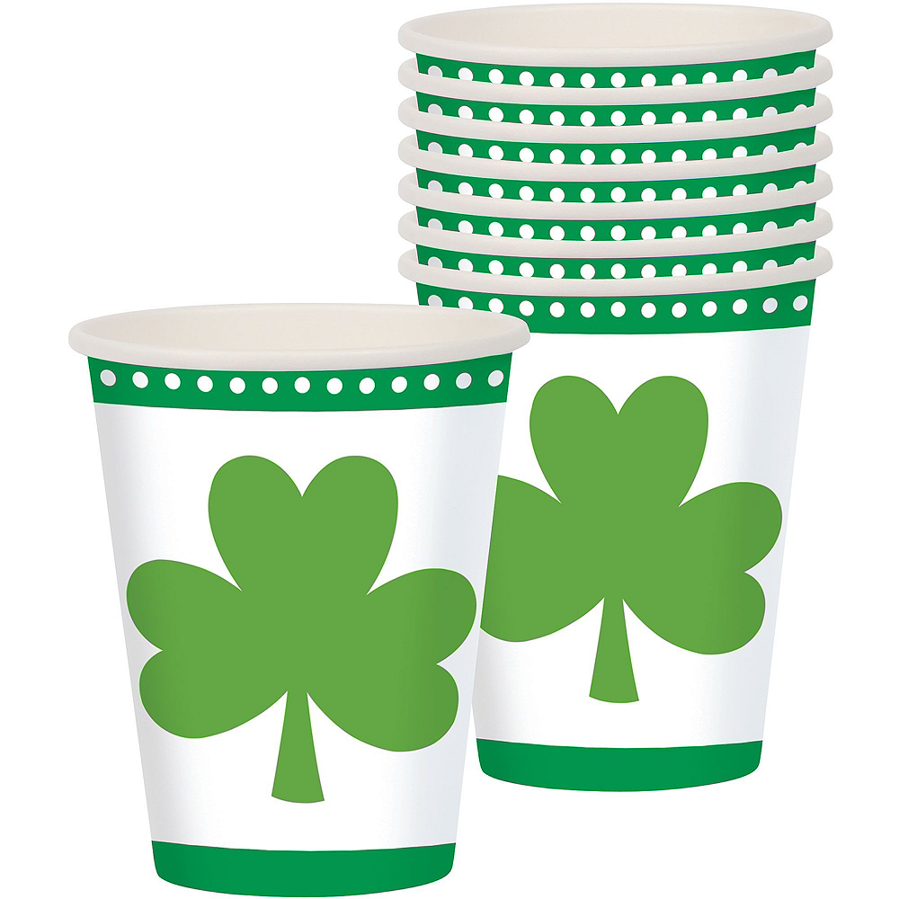 Lucky Shamrock Value Tableware Kit for 16 Guests Image #5