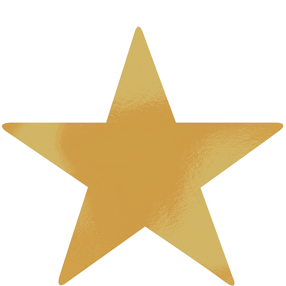 Extra-Large Gold Star Cutouts 12ct | Party City