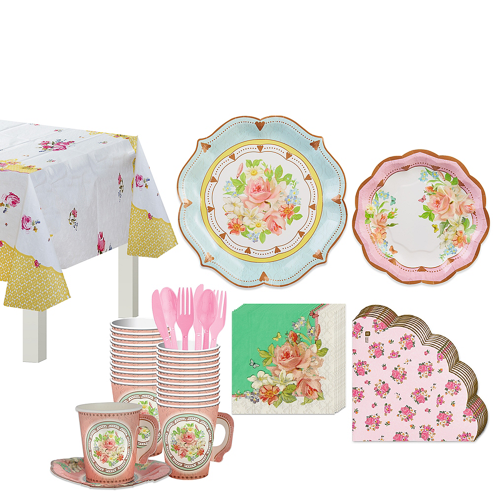 Floral Tea Party Kit for 16 Guests Image #1