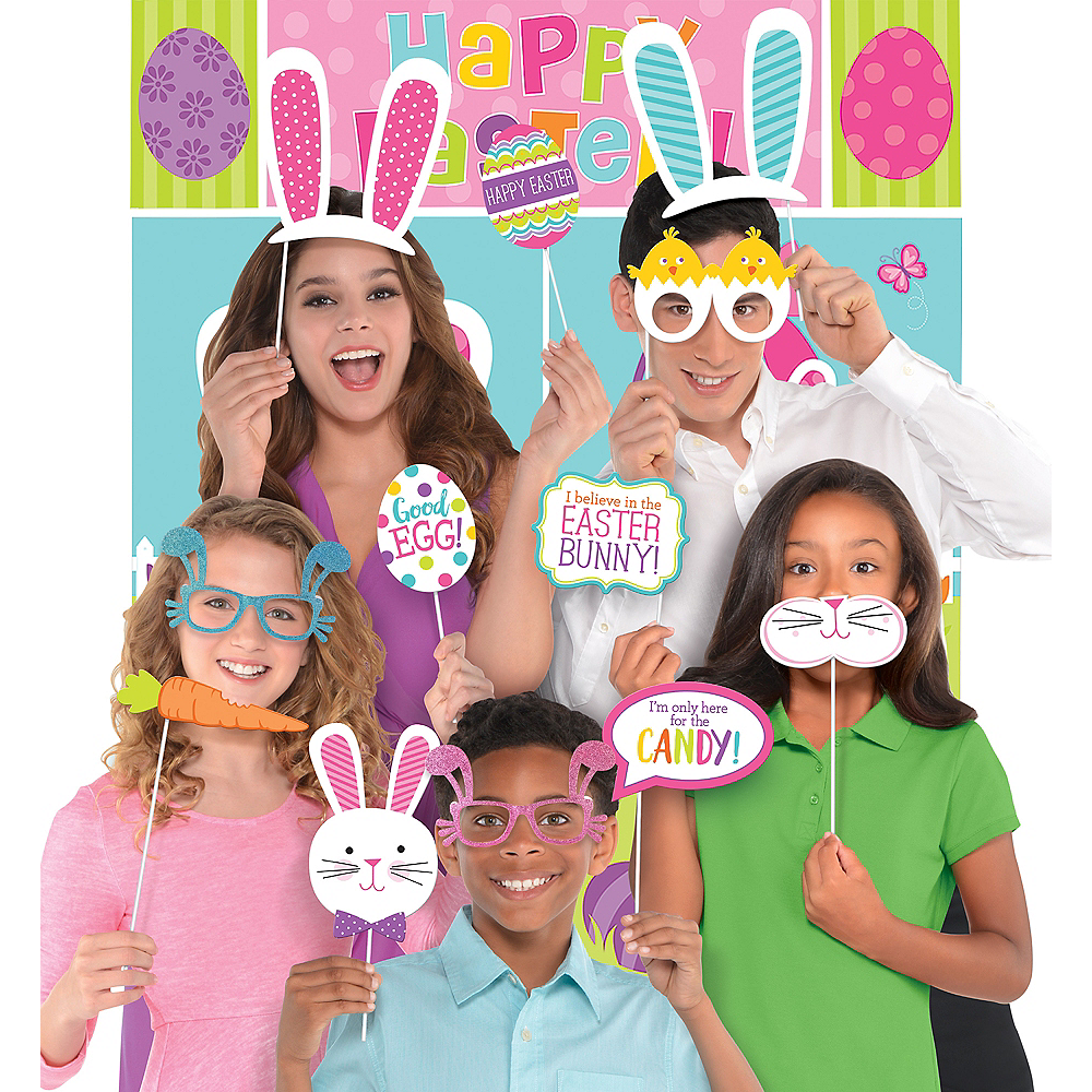 Happy Easter Photo Booth Kit with Props Image #1