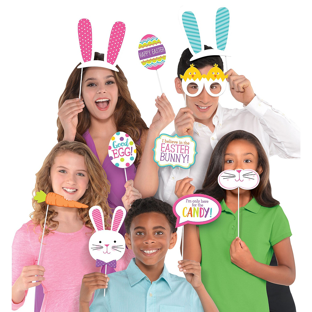 Happy Easter Photo Booth Kit with Props Image #2