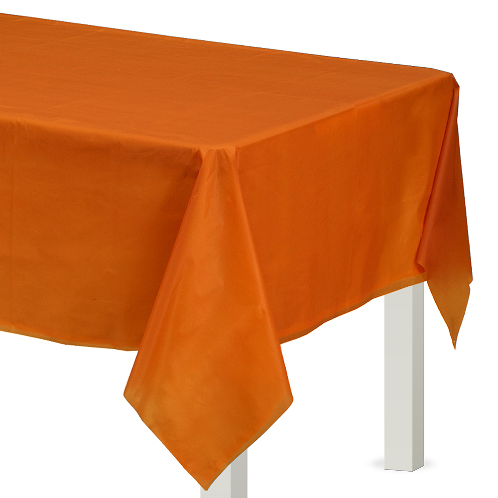 Pumpkin Spice Plastic Table Cover Image #1