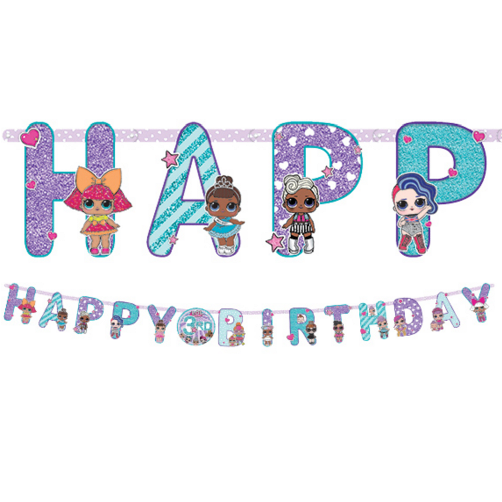 L.O.L. Surprise! Birthday Banner Kit Image #1