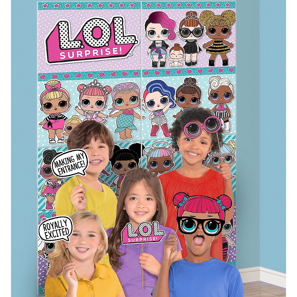 Lol Surprise Scene Setter With Photo Booth Props Party