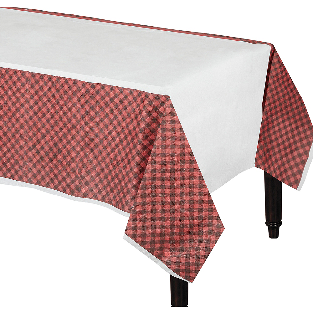 c83bc8f798 Little Lumberjack Paper Table Cover 54in x 96in | Party City