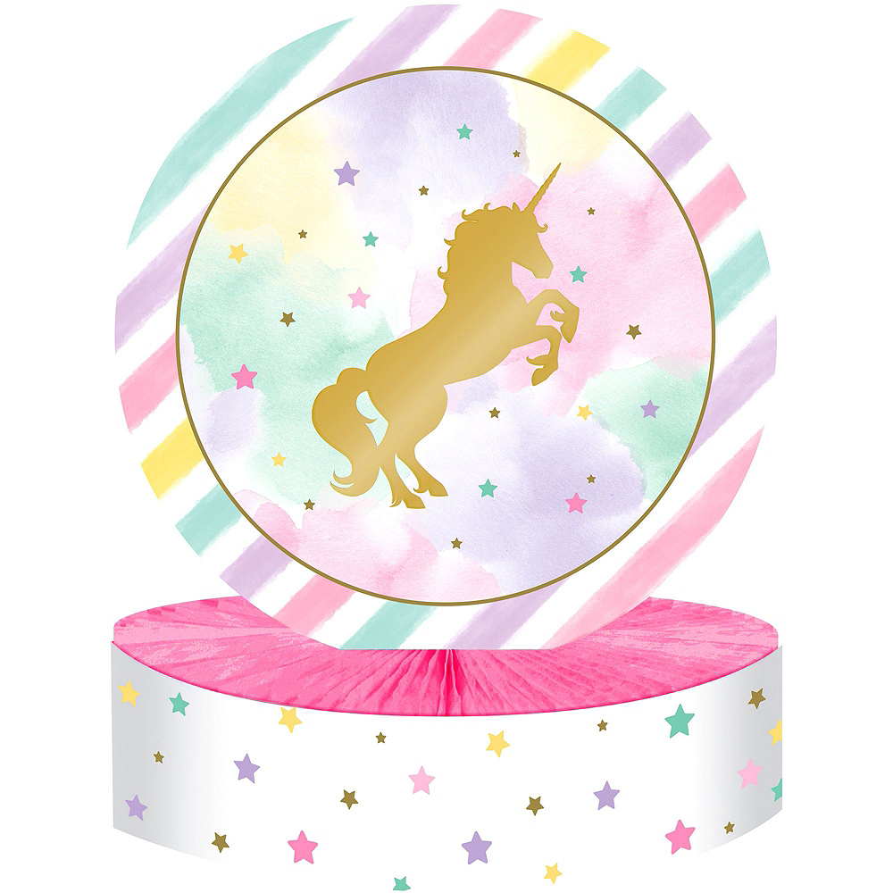 Sparkling Unicorn 1st Birthday Deluxe Party Kit for 32 Guests Image #12