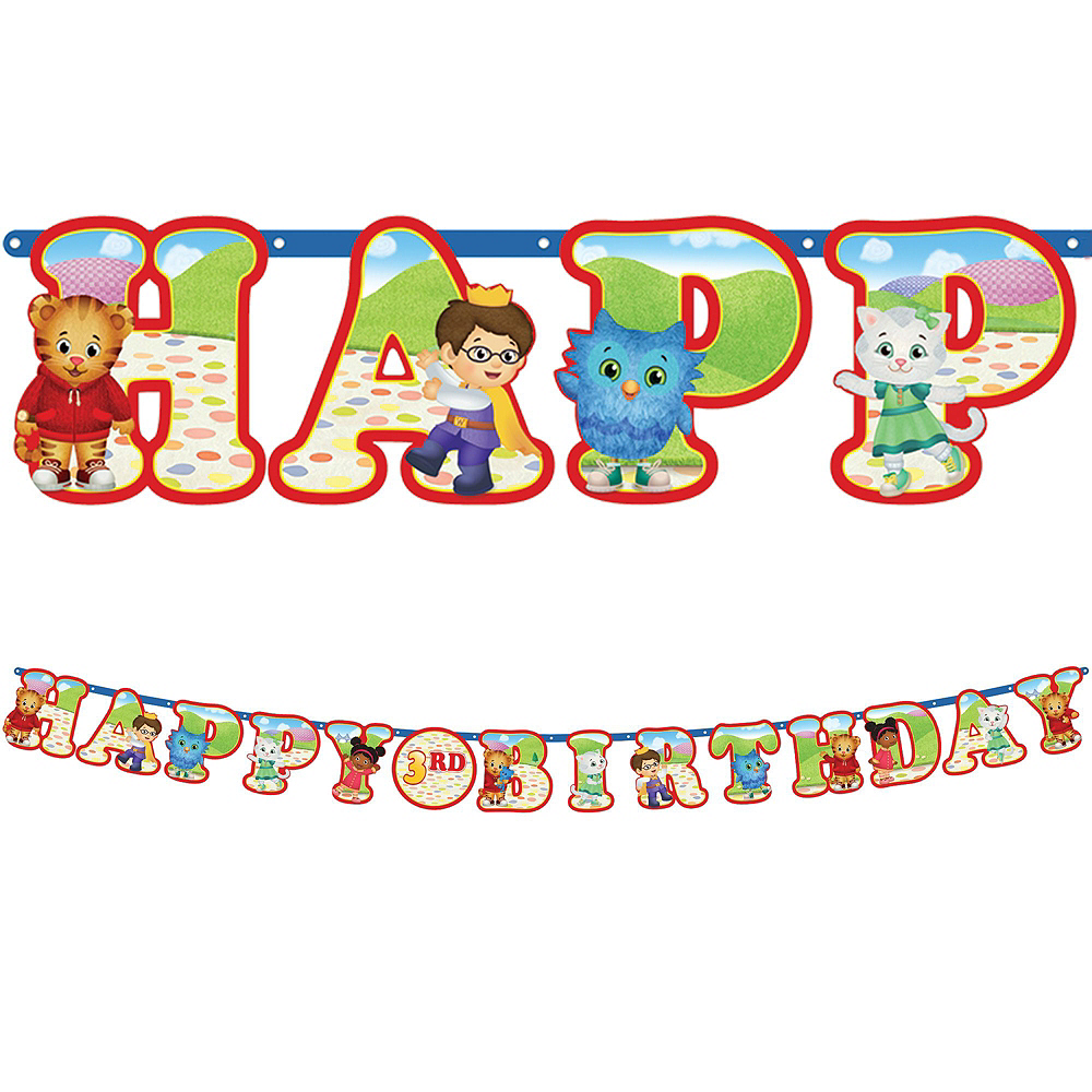 Daniel Tiger\'s Neighborhood 1st Birthday Party Kit for 16 Guests ...