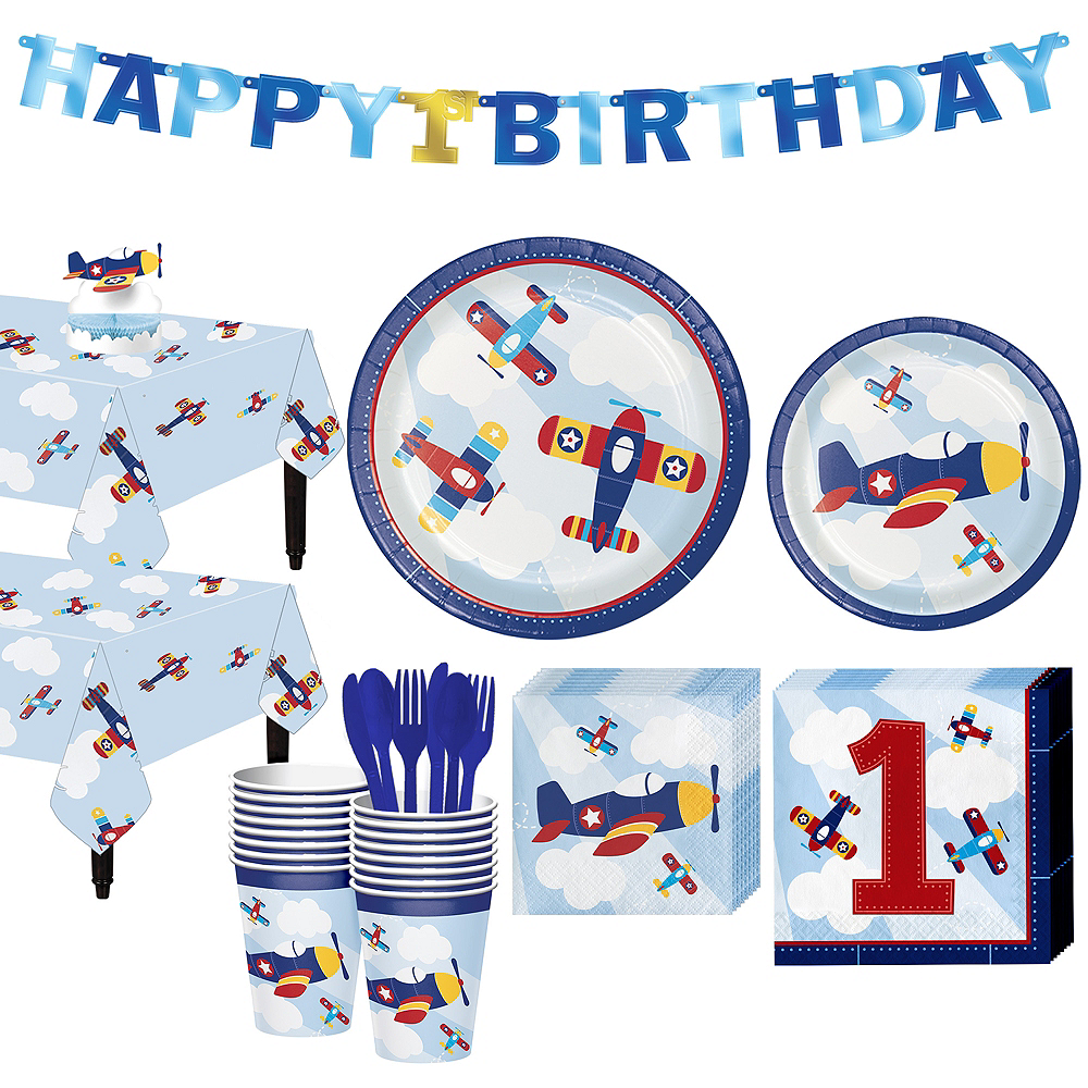 Airplane 1st Birthday Party Kit for 16 Guests Image #1