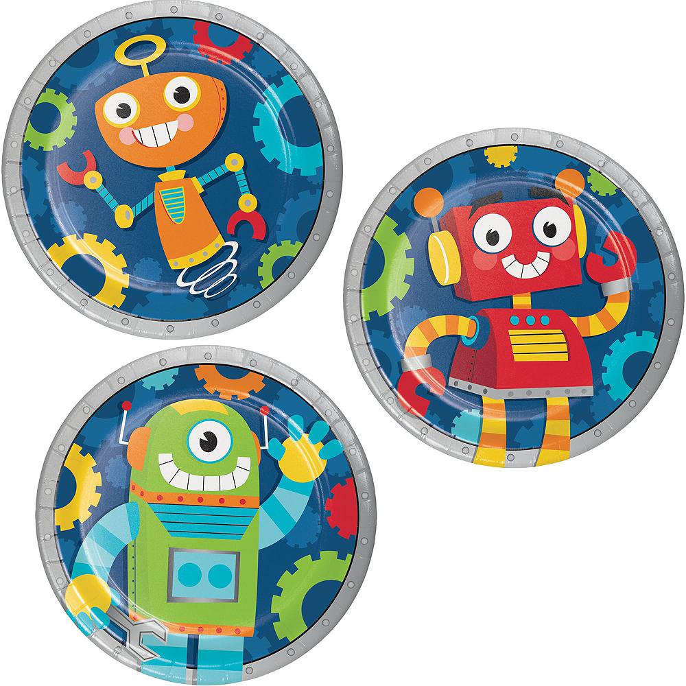 Robot 1st Birthday Deluxe Party Kit for 32 Guests Image #2