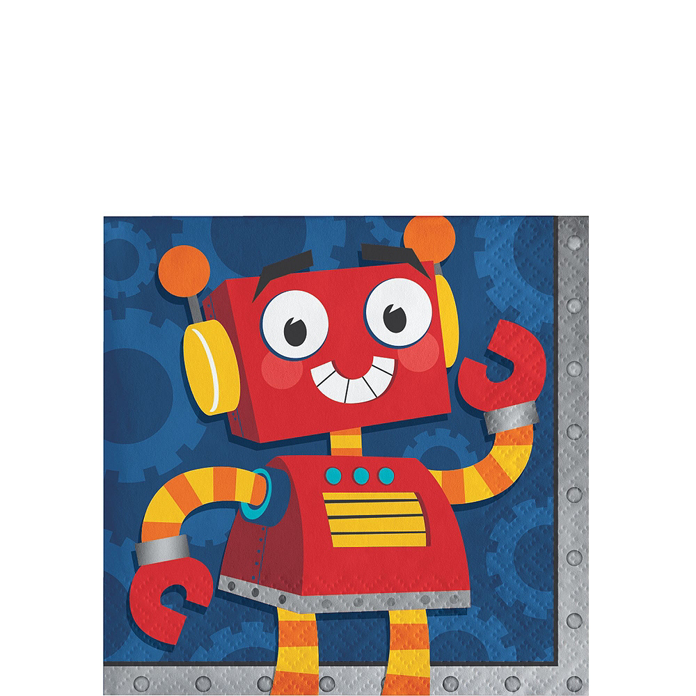 Robot 1st Birthday Deluxe Party Kit for 32 Guests Image #4