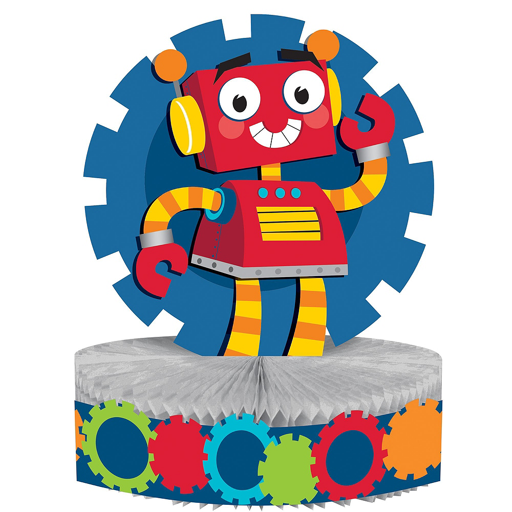 Nav Item for Robot 1st Birthday Deluxe Party Kit for 32 Guests Image #11