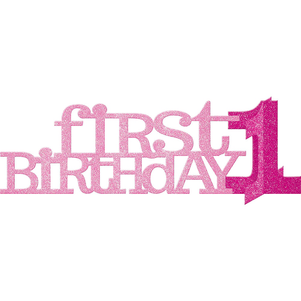 Pink & Gold Premium 1st Birthday Party Kit for 10 Guests Image #7