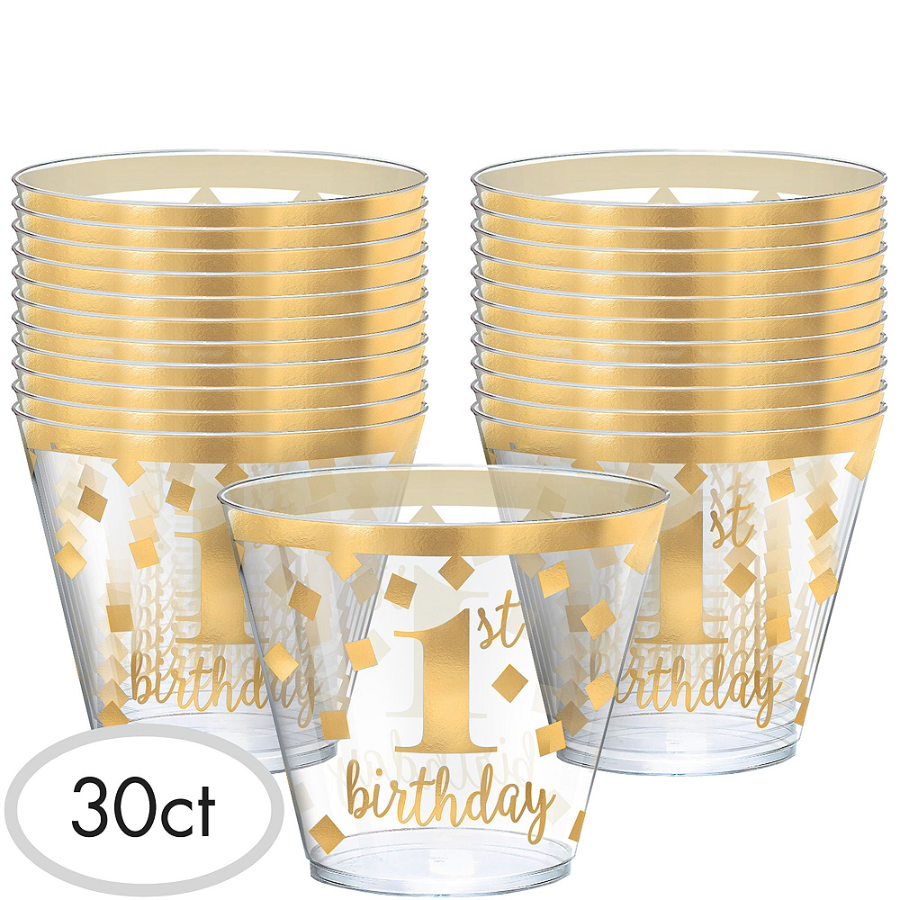 Pink & Gold Premium 1st Birthday Deluxe Party Kit for 20 Guests Image #16