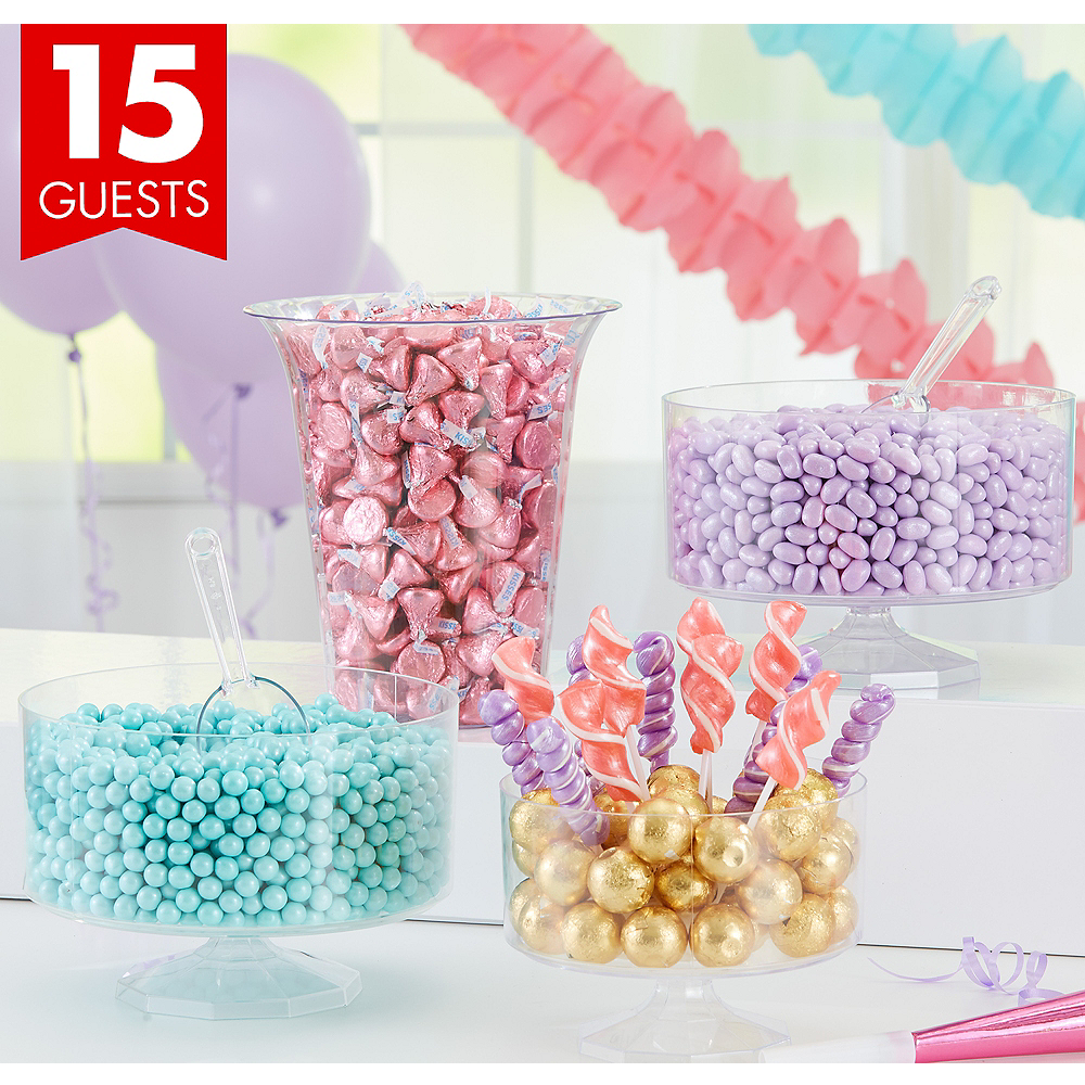 Pastel Chocolate & Candy Kit with Containers for 15 Guests | Party City
