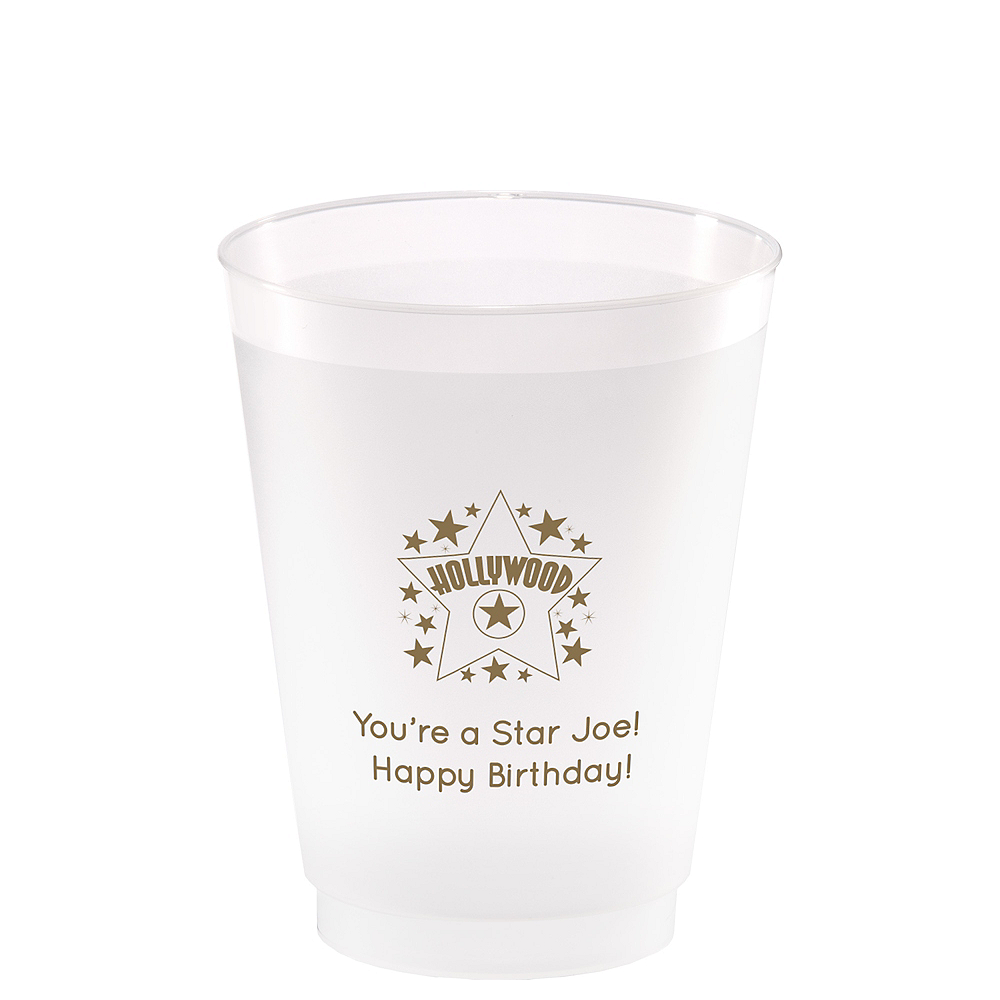 Personalized Hollywood Frosted Plastic Shatterproof Cups 16oz Image #1