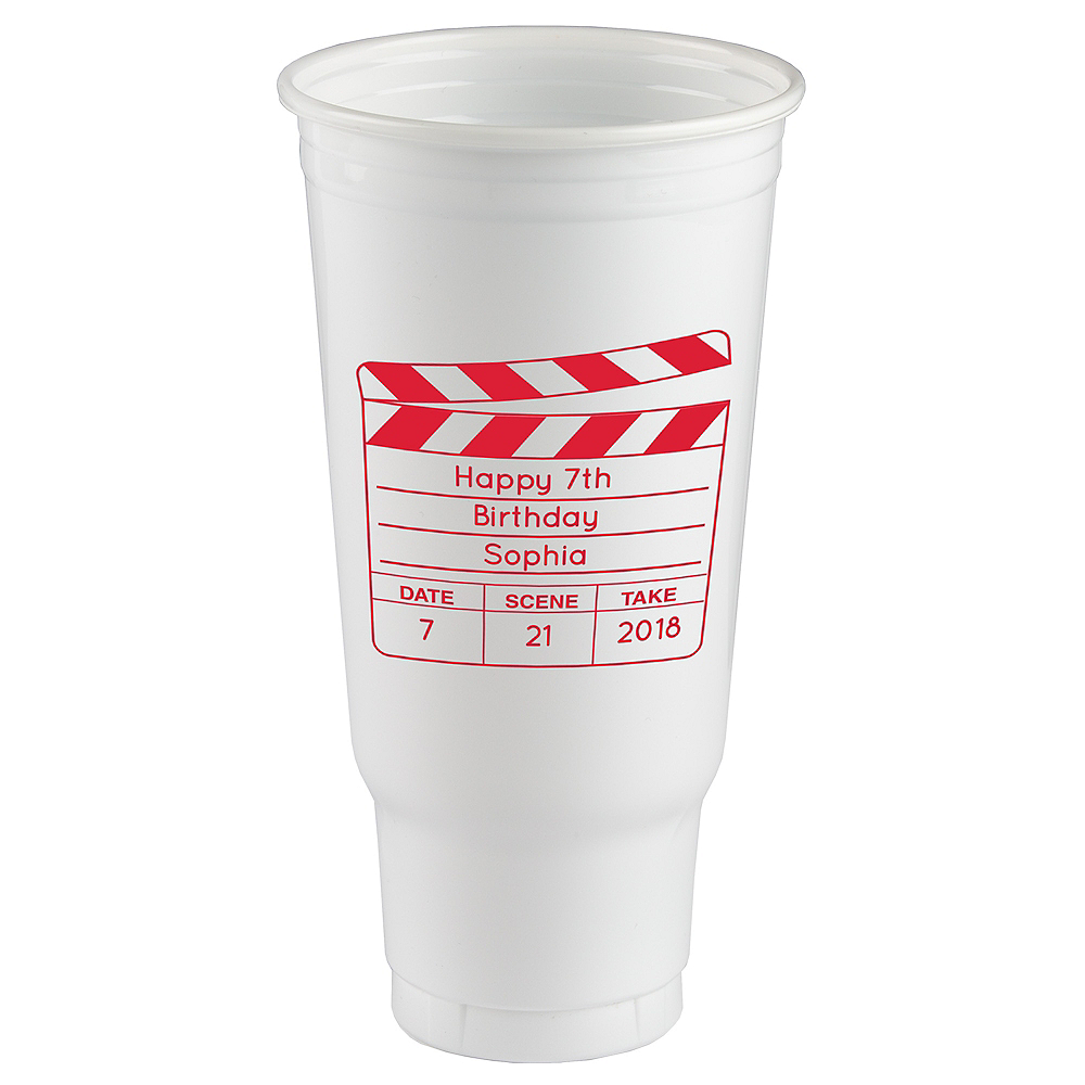 Personalized Hollywood Plastic Party Cups 44oz Image #1