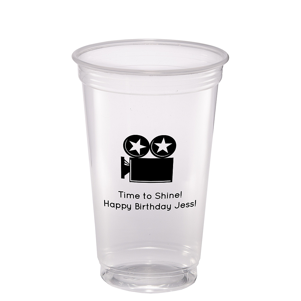 Personalized Hollywood Plastic Party Cups 20oz Image #1
