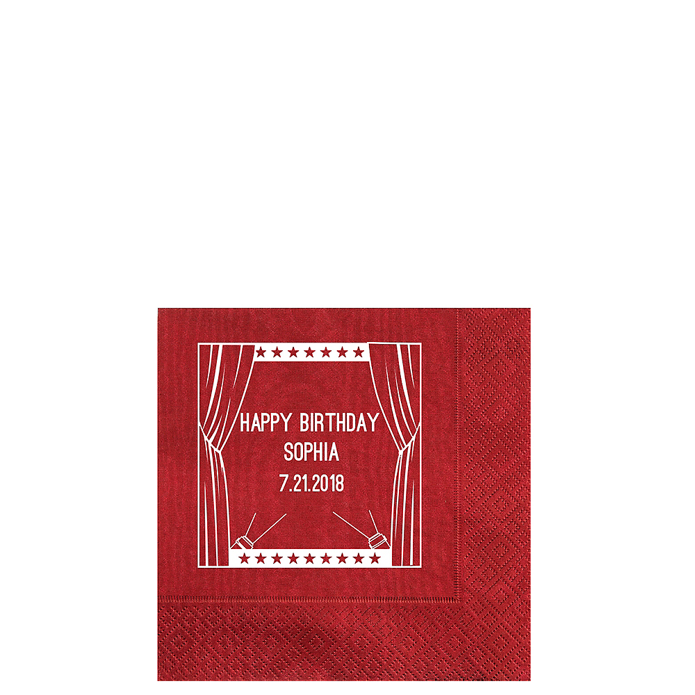 Personalized Hollywood Moire Beverage Napkins Image #1
