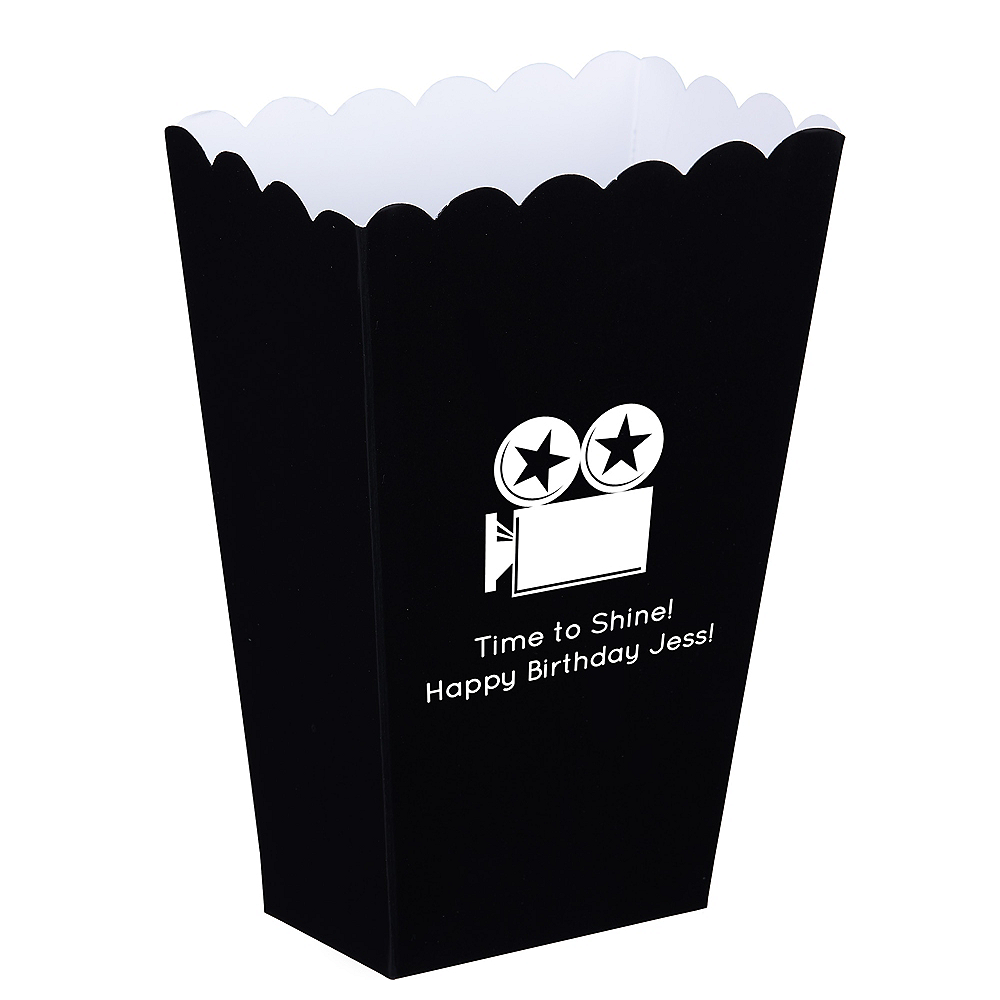 Personalized Mini Hollywood Paper Treat Bags Image 1
