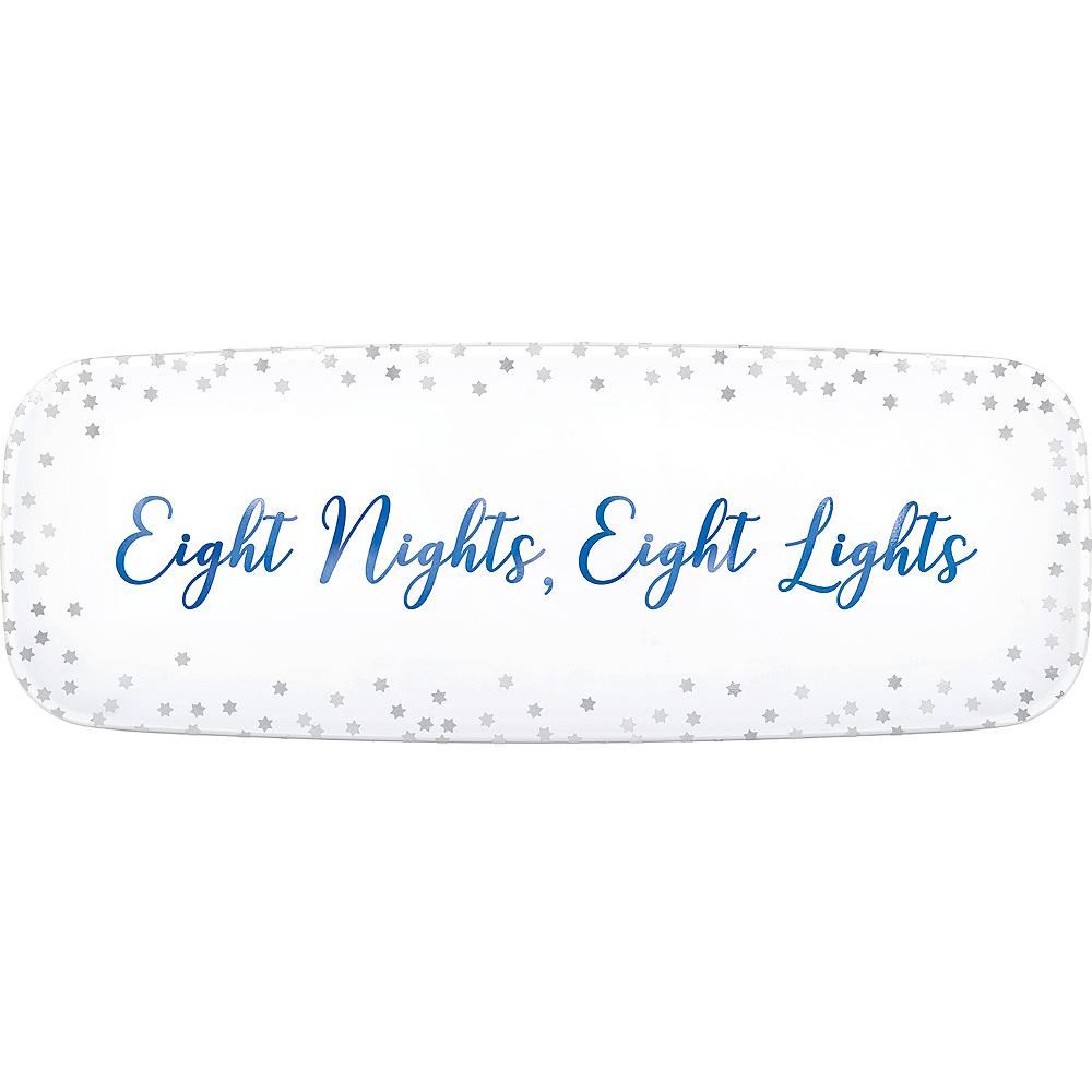 Eight Nights Eight Lights Plastic Rectangular Platter Image #1