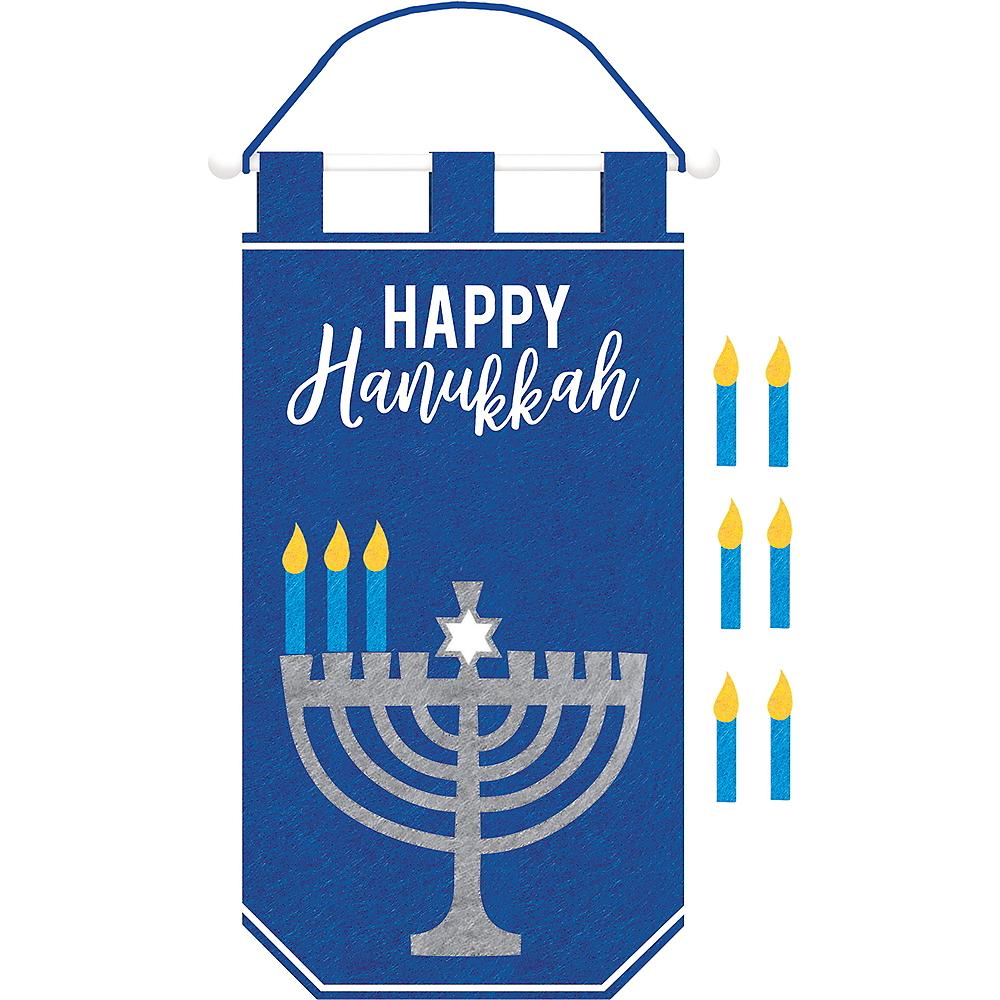 Felt Happy Hanukkah Sign Image #1