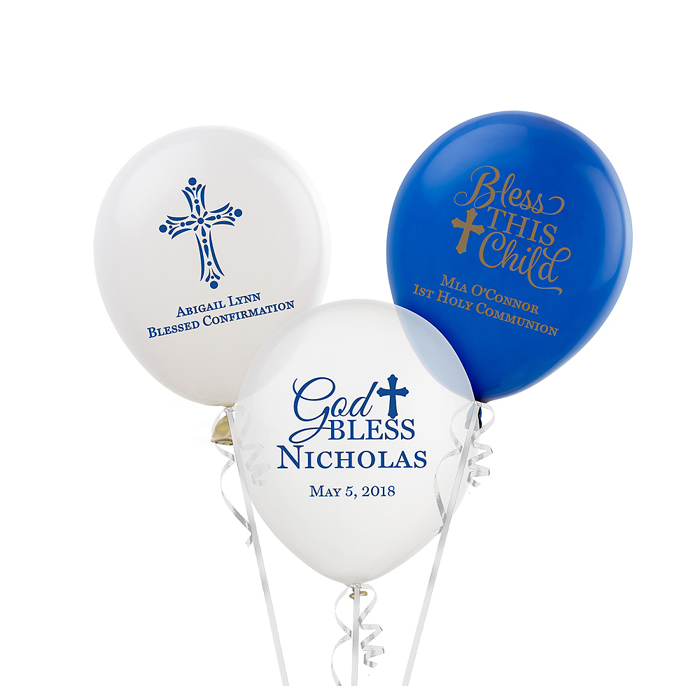 Nav Item for Personalized Communion Latex Small Balloon Image #1