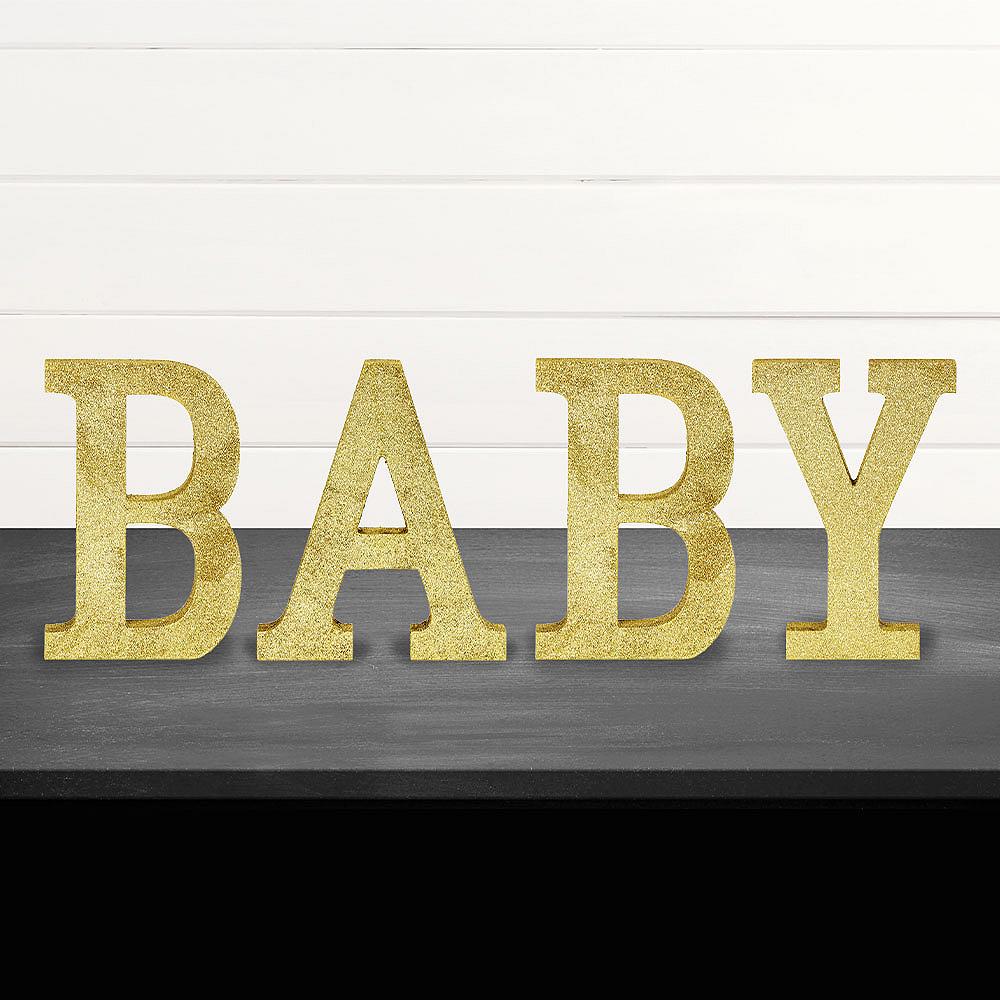 Glitter Gold Baby Sign Kit Image #1