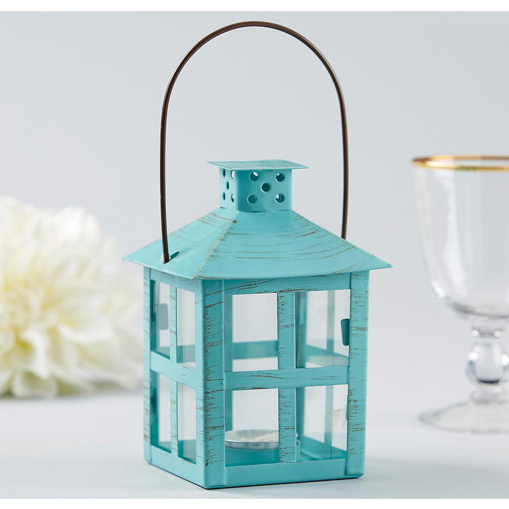 Vintage Seafoam Green Lantern Tealight Candle Holder