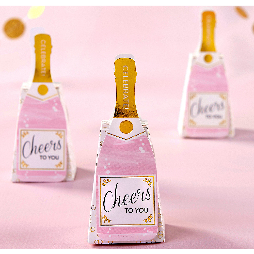 Champagne Bottle Favor Boxes 12ct | Party City