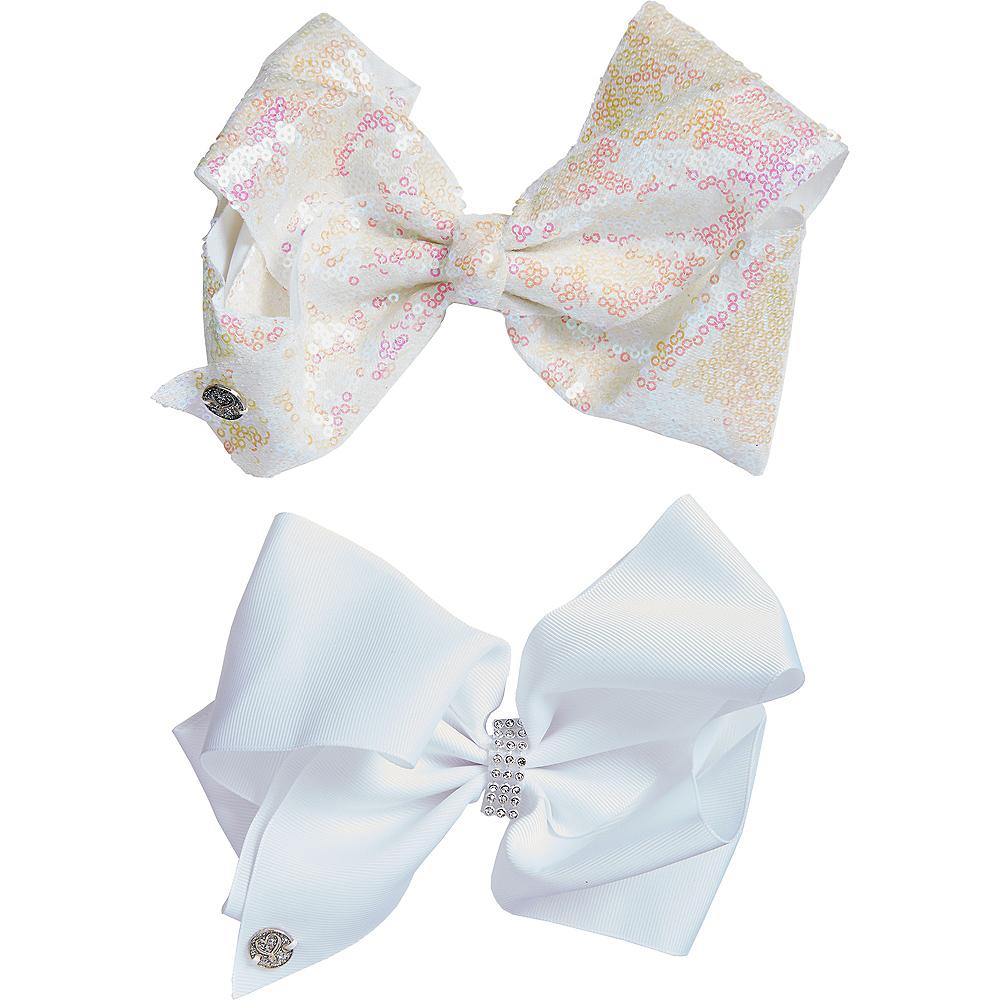 ... JoJo Siwa Iridescent Sequined   White Bow Set 2ct Image  2 1199dc8a5b5