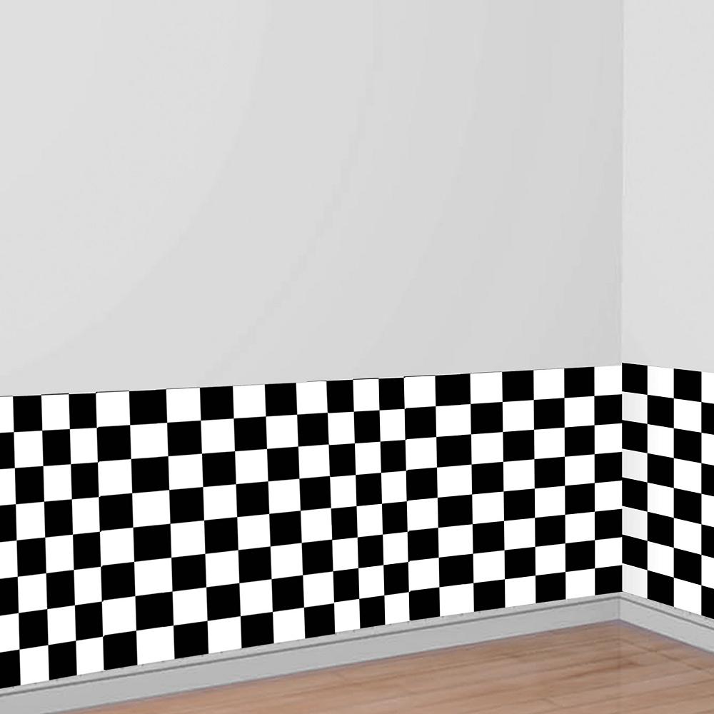 Black & White Checkered Room Roll Image #1