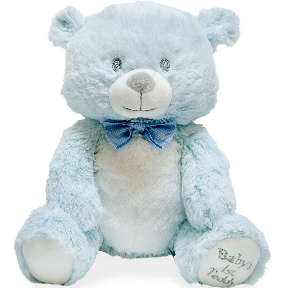 Animated Blue Teddy Cuddle Barn Bear Plush Image #1