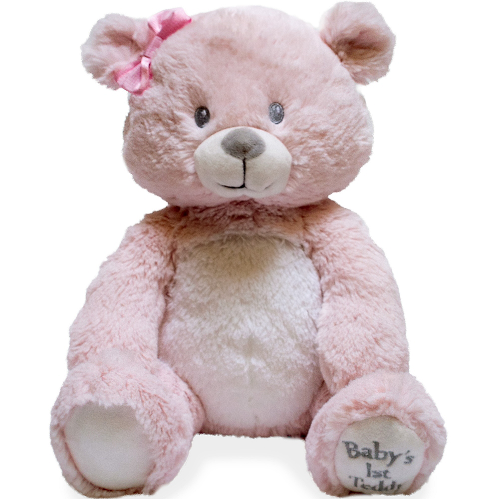 Nav Item for Animated Pink Teddy Cuddle Barn Bear Plush Image #1