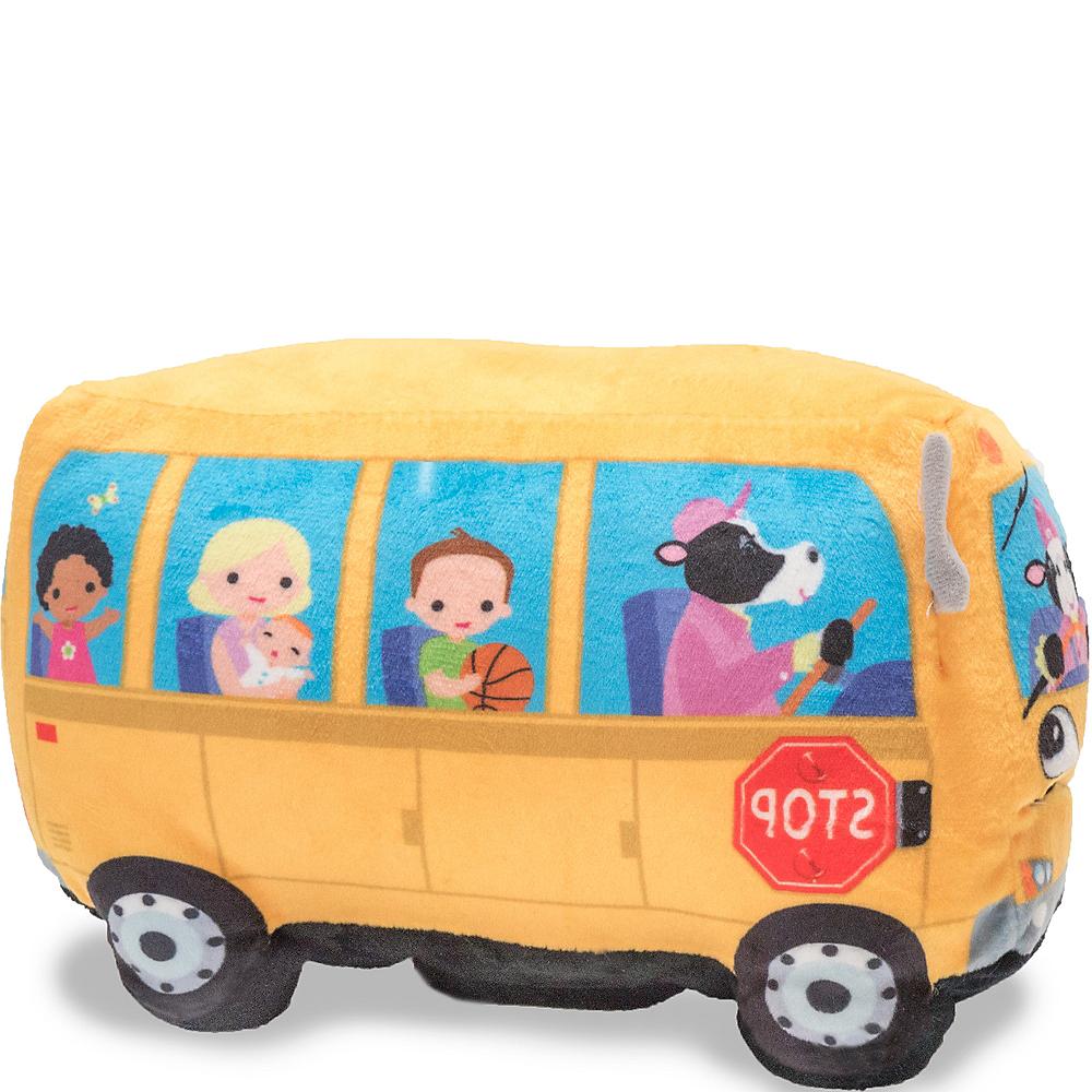 Cuddle Barn Animated Toy Wheelie School Bus Singing Wheels on the Bus