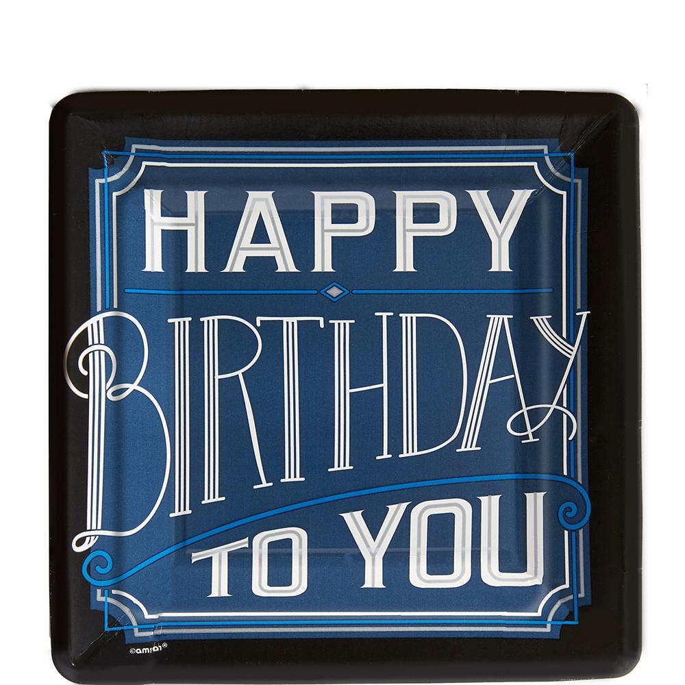 Happy Birthday Classic Dessert Plates 8ct Image #1
