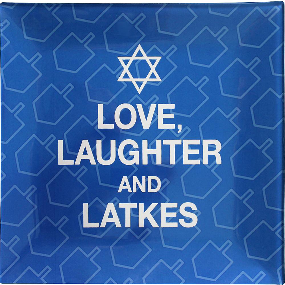 Love, Laughter & Latkes Plastic Square Platter Image #1