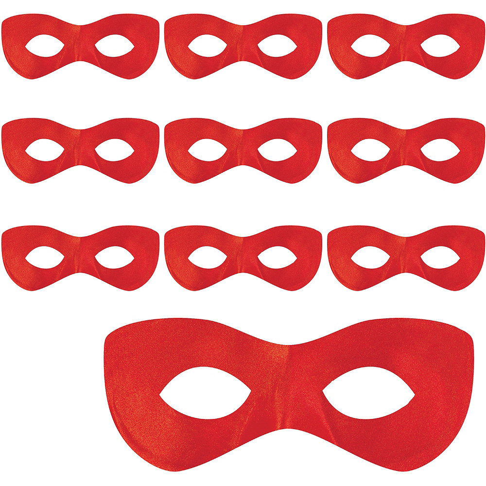 Red Domino Masks 10ct Image #1